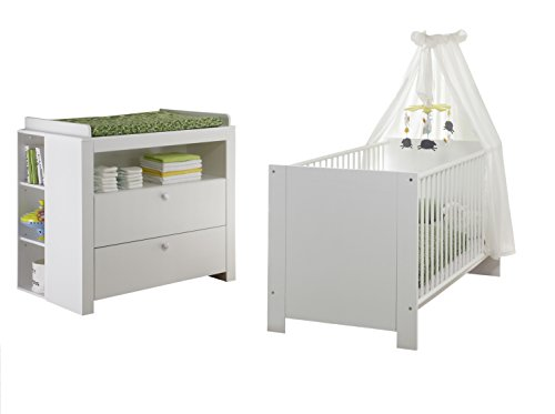 trendteam smart living Babyzimmer 4 teiliges Komplett Set