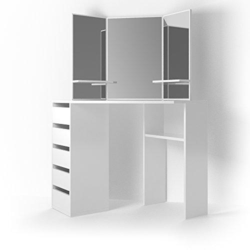 schminkkommode mit spiegel in wei. Black Bedroom Furniture Sets. Home Design Ideas
