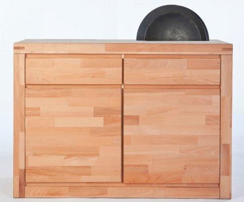 kommode mit kernbuche design. Black Bedroom Furniture Sets. Home Design Ideas
