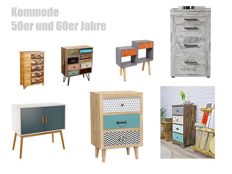 kommode 50er und 60er jahre stil. Black Bedroom Furniture Sets. Home Design Ideas