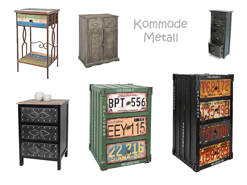 kommode metall. Black Bedroom Furniture Sets. Home Design Ideas