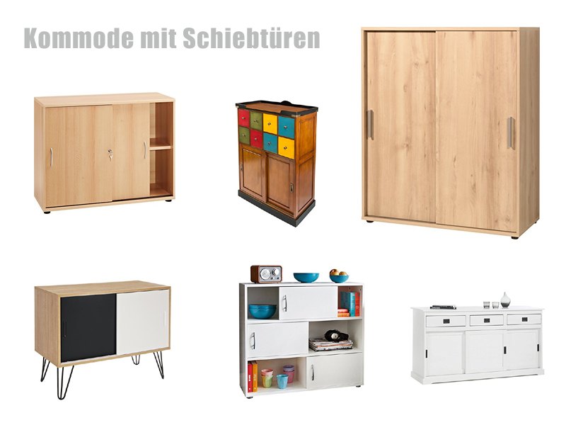 kommode mit schiebet ren. Black Bedroom Furniture Sets. Home Design Ideas