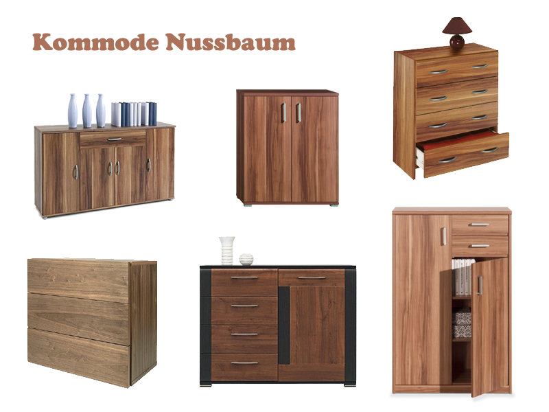 kommode nussbaum. Black Bedroom Furniture Sets. Home Design Ideas