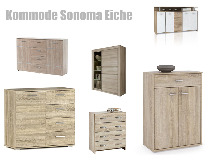 kommode eiche sonoma. Black Bedroom Furniture Sets. Home Design Ideas